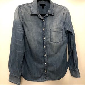 J. Crew Denim Button Down size 8